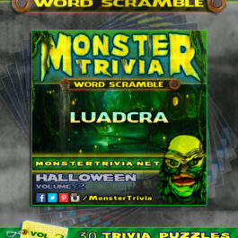 monster trivia word scramble vol 2 halloween - Halloween Monster Trivia