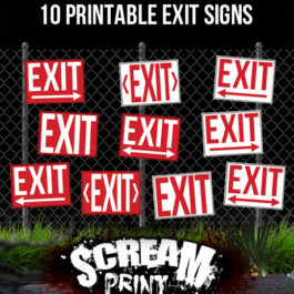 10 Printable Exit Signs