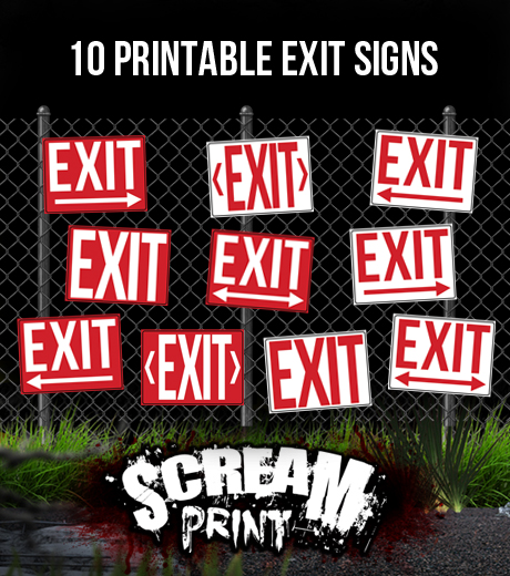 graphic regarding Printable Exit Signs named 10 Printable Exit Signs or symptoms - Down load - Print - Embellish