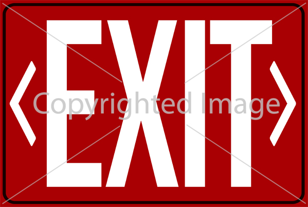 photo relating to Printable Exit Sign identify 10 Printable Exit Symptoms - Down load - Print - Adorn