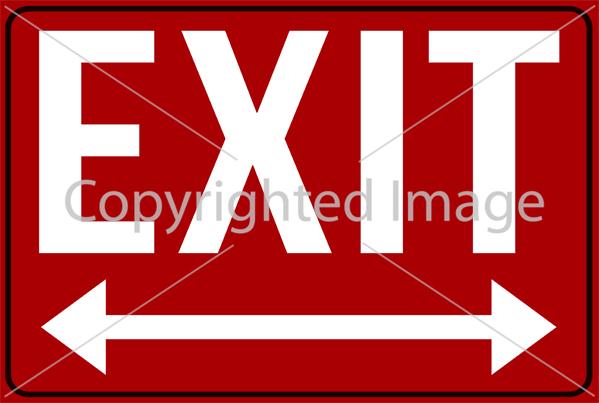 SM - EXIT Both Underline Red