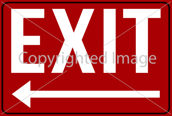 SM - EXIT Left Red