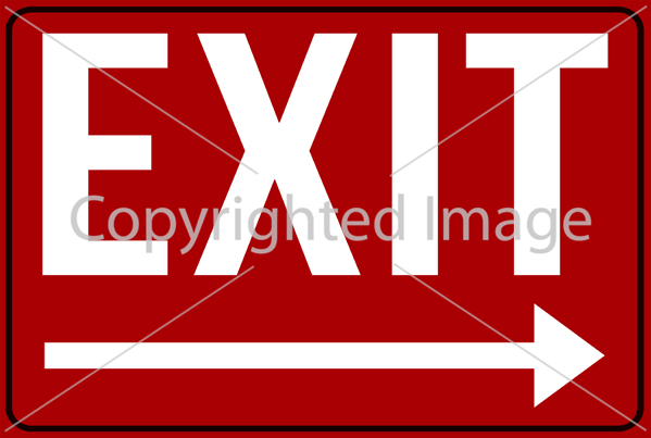 SM - EXIT Right Red