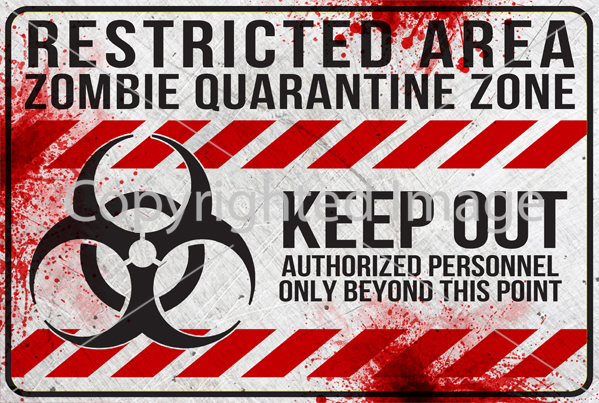 10 Printable White Zombie Signs Download Print Decorate