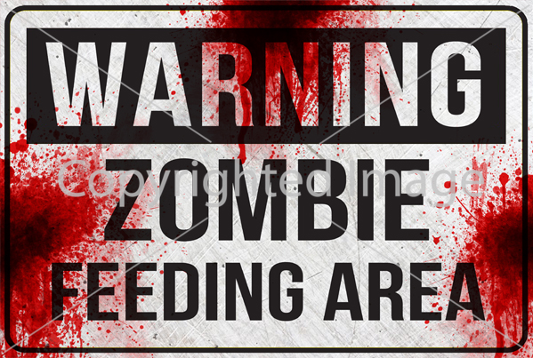 SM - WARNING Zombie Feeding Area