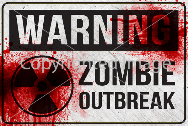 photo about Quarantine Signs Printable identify 10 Printable White Zombie Indications - Down load - Print - Adorn