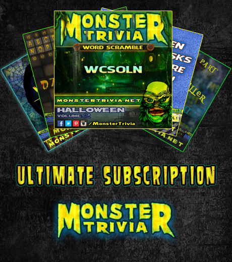 monster trivia season subscription - Halloween Monster Trivia
