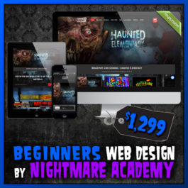 Beginners Web Bundle Haunted House Website Design by Nightmare Academy Web Design