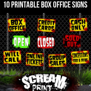 10 Printable Box Office Signs