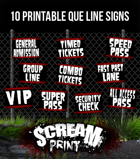 10 Printable Que Line Signs