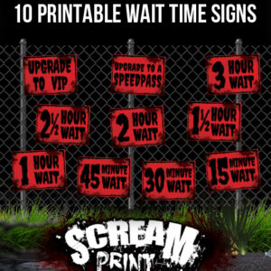 10 Printable Wait Times Signs