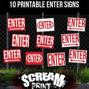 10 Printable Enter Signs