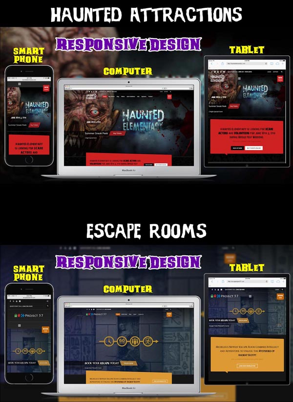 Haunted Attraction and Escape Room Webs Design