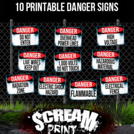 10 Printable Danger Signs