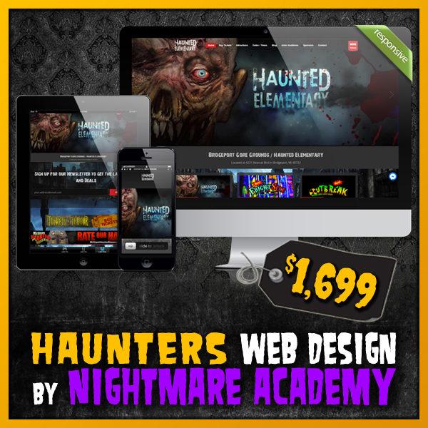 Haunters Web Bundle Haunted House Website Design by Nightmare Academy Web Design