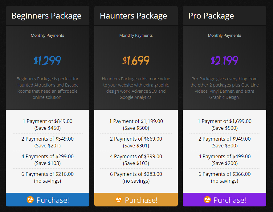Web Design Price Plans
