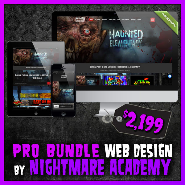 Pro Web Bundle Haunted House Website Design by Nightmare Academy Web Design
