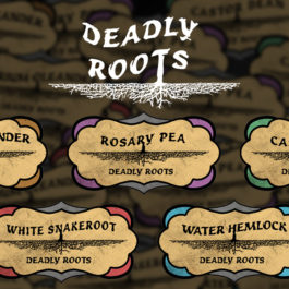 6 Custom Deadly Roots Labels | Print in Full Color on Sticker Paper