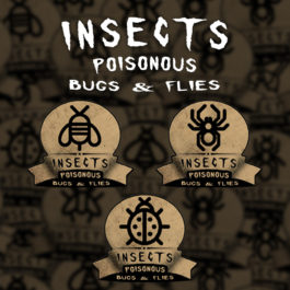 9 Custom Insects, Bugs & Flies Labels | Print in Full Color on Sticker Paper