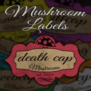 6 Custom Mushroom Labels | Print in Full Color on Sticker Paper