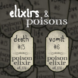 6 Custom Elixirs & Poisons Labels | Print in Full Color on Sticker Paper