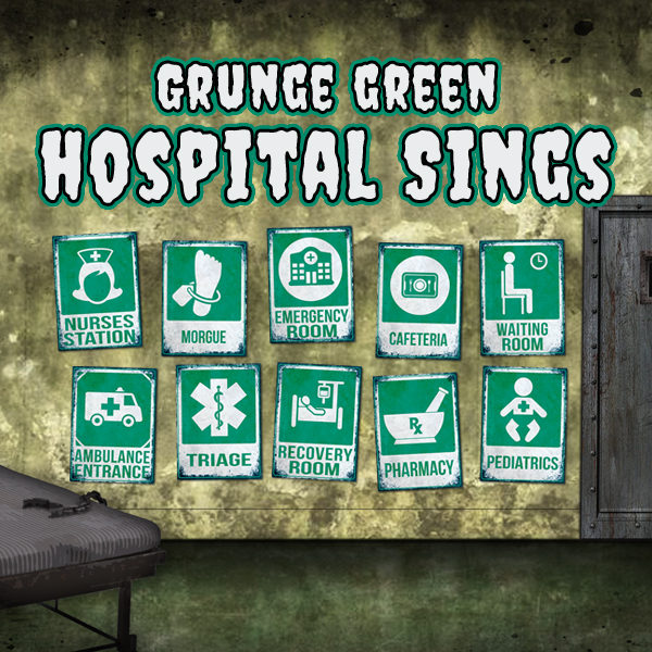 photo regarding Quarantine Signs Printable titled 10 Printable Grunge Eco-friendly Healthcare facility Signs or symptoms