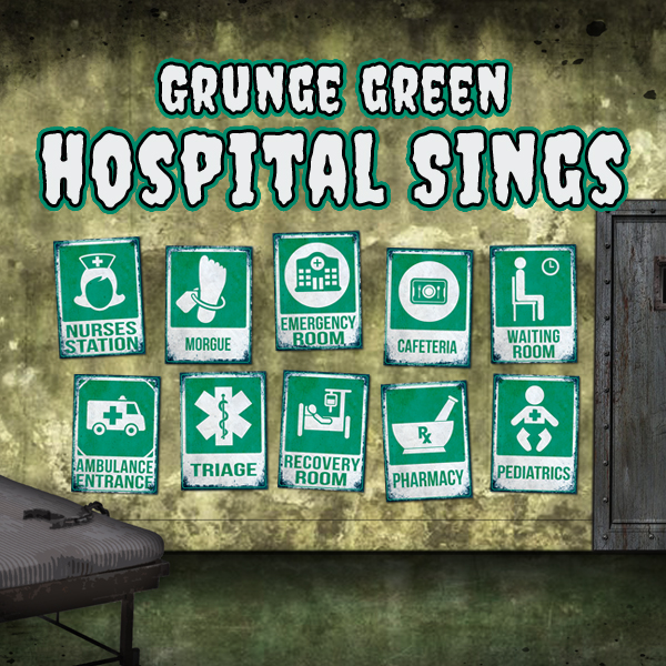 photo relating to Quarantine Sign Printable identified as 10 Printable Grunge Inexperienced Medical center Symptoms