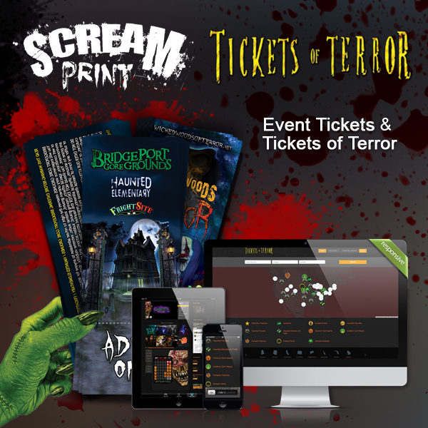 Tickets & Directory Combo by ScreamPrint and Tickets of Terror, Haunt Depot or Escape Room Finder