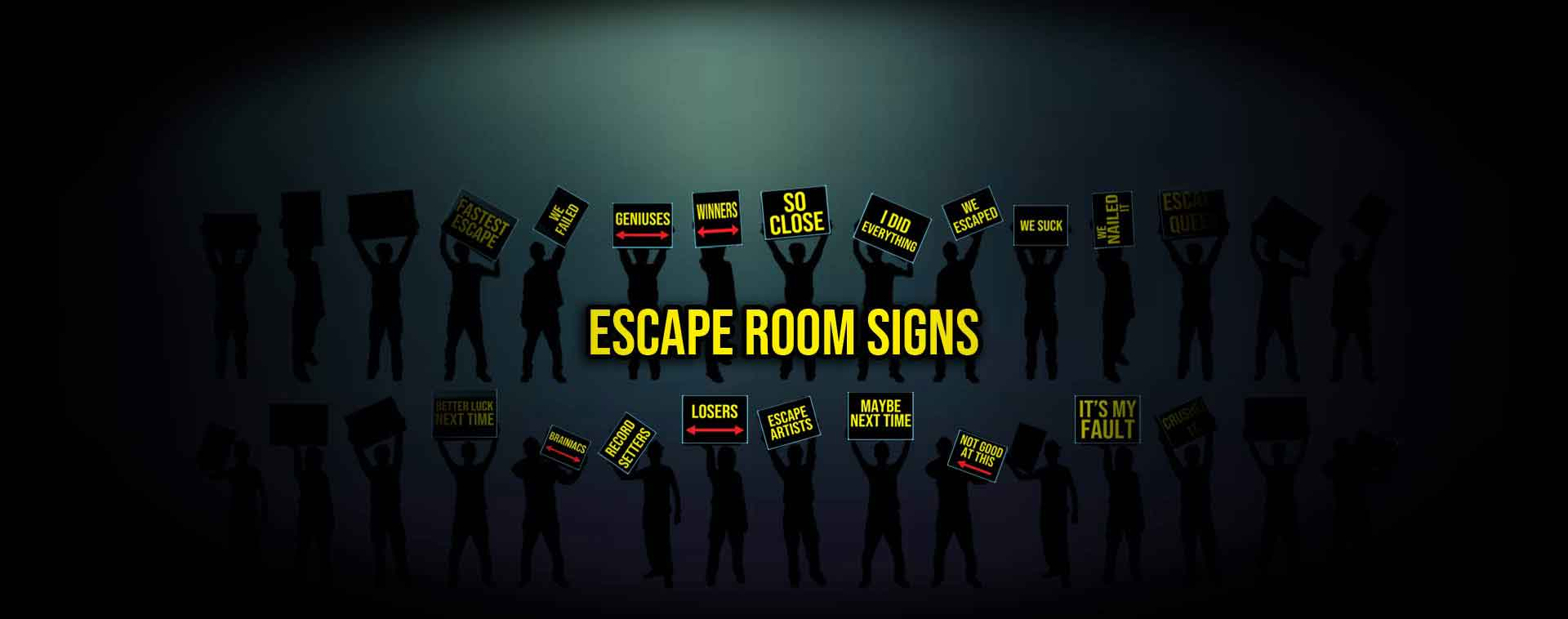 Haunted House Marketing Escape Room Signs Subscription