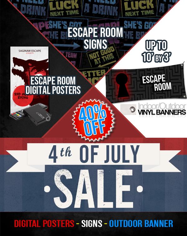 picture regarding Escape Room Signs Printable titled Escape Place Offer