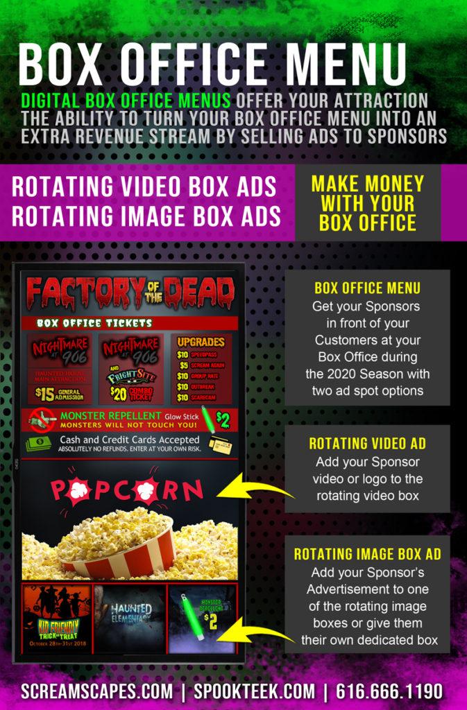 Turn your Digital Box Office Menu into an Extra Revenue Stream